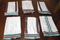 creativezazz.com » how to make baby burp cloths using ribbon custom designer sew make gift