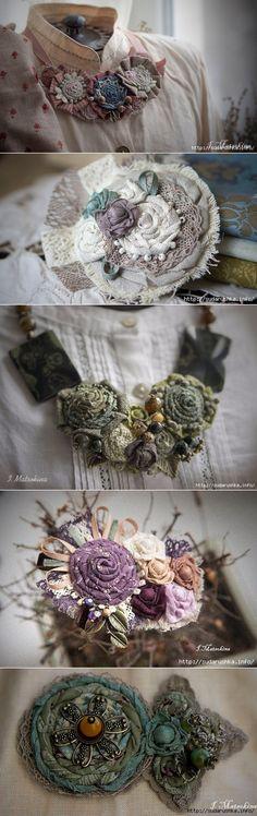 Текстильные украшения мастера Ирины Мацокиной