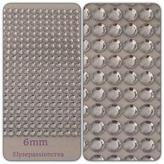 grande applique plaque de 260 strass autocollant forme diamant couleur argenté reflet 5 mm : Embellissements par elyse-passion-crea