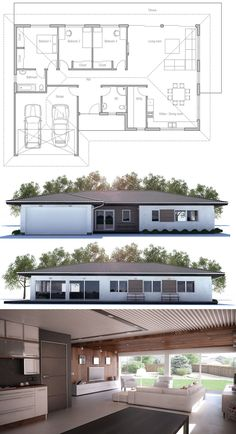 Floor Plan, Small House Plan CH 225