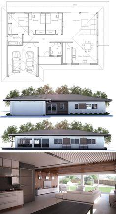 Floor Plan, Small House Plan CH 225