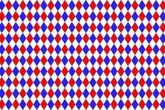 Papeis vermelho e azul - Cantinho do blog