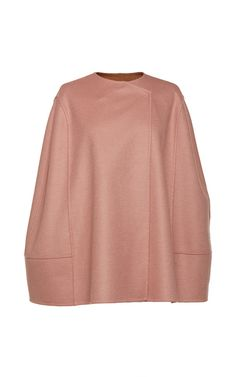 This **Agnona** cape is rendered in cashmere and features a round neck and concealed snap fastenings.