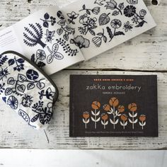 Now on sale. → amazon.com English translation book 『 Zakka embroidery / yumiko higuchi 』 Simple One- and Two-Color Embroidery Motifs and Small Crafts