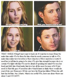 Dean + Jo. I'm on season 2 though so this kinda spoils everything<<<< sorry mate, can't get too far on Pinterest without getting some spoilers