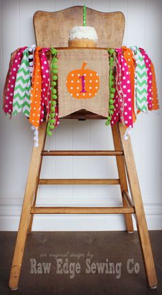 Hey, I found this really awesome Etsy listing at https://www.etsy.com/listing/245838677/pumpkin-birthday-age-high-chair