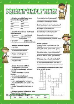 Free Printable Comprehension Worksheets Excel Basic Subject Verb Agreement Exercises  Buscar Con Google  3 Billy Goats Gruff Sequencing Worksheet Excel with Adverbs Worksheet With Answers Present Simple  Worksheet  Kindergarten Level Primary Science Worksheets