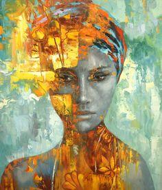 "creative portrait paintings: ""Ebel"" by  Dmitry Spiros (Mexico) • $6550 original 45.5h x 39w"" (2017-09 Saatchi Art)"