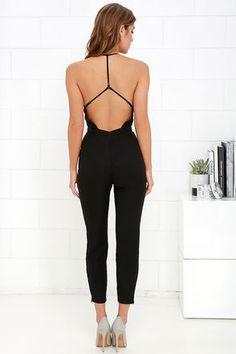 NBD Leaving Black Jumpsuit at Lulus.com!