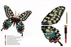 схема бабочки из бисера: 16 тыс изображений найдено в Яндекс.Картинках