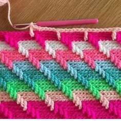 Crocheting a blanket #crochet #crafts