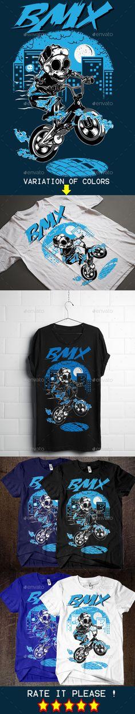 BMX T-Shirt Design Template PSD, Vector EPS, AI. Download here: http://graphicriver.net/item/bmx-tshirt-design/14169456?ref=ksioks