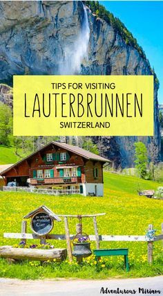 Lauterbrunnen is like a tiny piece of heaven, just a swooning train ride away from bigger cities like Bern and Lucerne. If you're in Switzerland and only visit one place, choose Lauterbrunnen and go chase waterfalls. Here's are some travel tips for visiting.