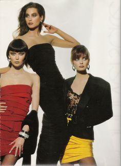 Versace Fall/Winter 88.89 (Ad Campaign)  with Bryna Sverris & Paulina Porizkova  Photographer: Irving Penn http://supermodelobsession.tumblr.com
