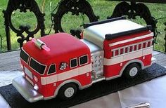 Fire Truck Cakes