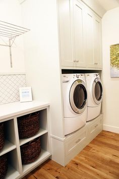 Built in washer and dryer riser