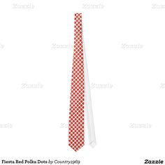 Fiesta Red Polka Dots Tie