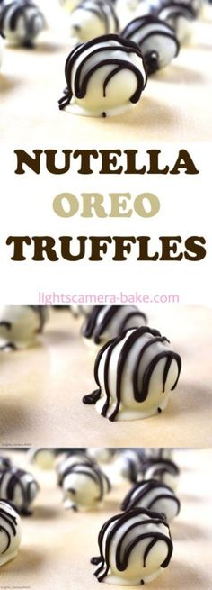 Nutella Oreo Truffles are ultra decadent truffles with a soft and creamy crushed Oreo and Nutella filling and coated in a white chocolate coating. Oreo Truffles Recipe, Cake Truffles, Truffle Recipe, Cacao Recipes, Nutella Recipes, Dark Chocolate Recipes, White Chocolate, Marshmallow Sweets, Oreo Cake Balls