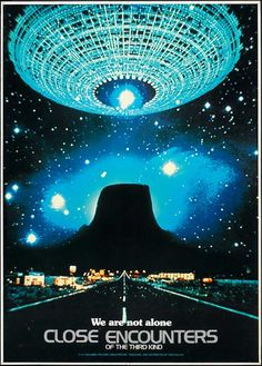 This is an alien spaceship hundreds of kilometers long in Close Encounters of the Third Kind  .