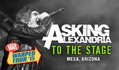 "Asking Alexandria - ""To The Stage"" (with Denis Stoff) LIVE! Vans Warped ..."