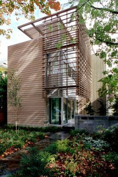 Love the wood screens for shade and privacy.