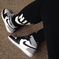 c1deffb774ce38 Gray Black and White Air Jordan 1 Retro Sneakers