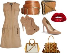 A fashion look from January 2013 featuring derek lam dress, peep toe ankle boots and heel pump. Browse and shop related looks. Peep Toe Ankle Boots, Khaki Dress, Derek Lam, Pumps Heels, Fashion Looks, Fashion Outfits, Fresh, Polyvore, Shopping