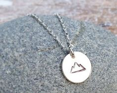 Mountain Necklace, Sterling Silver, Silver Mountain, Wanderlust, Wilderness Hiking, Camping, Backpacking, The Mountains are Calling