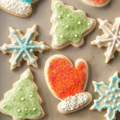 Nice 'n' Soft Sugar Cookies Recipe -My family's all-time favorite Christmas cookie has had a million shapes over the years. Little ones have fun making their own icing designs. Best Christmas Cookie Recipe, Holiday Cookies, Holiday Treats, Christmas Treats, Christmas Baking, Christmas Fun, Holiday Recipes, Jolly Holiday, Fun Recipes