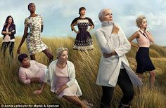 New images: M&S has unveiled more campaign images of the Leading Ladies (L-R) Lulu Kennedy...