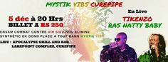 MYSTIK VIBS CUREPIPE!! - see more on http://ift.tt/1O0A5y2 #events #mauritius