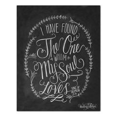 Song Of Solomon 3:4 - Print - Lily & Val