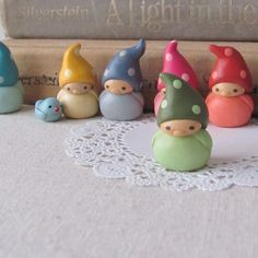 These cute little Companion Gnomes, made from polymer clay, have sold out on Etsy but are still worth pinning.
