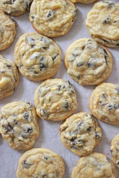 """Secret Ingredient Chocolate Chip Cookies – MANDY JACKSON If you love a soft, classic chocolate chip cookie, these are for you! I am quite sure that the sentence """"these cookies have too much vanilla and are GROSS"""" has never been uttered in the whole of hu… Chocolate Chip Pudding Cookies, Chocolate Cookie Recipes, Chocolate Chip Oatmeal, Easy Cookie Recipes, Chocolate Chocolate, Chocolate Chip Cookies With Vanilla Pudding Recipe, Healthy Chocolate, Chocolate Chip Cookie Recipe With Vanilla Pudding, Chcolate Chip Cookies"""