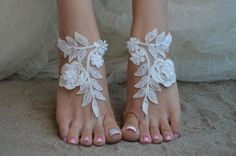barefoot sandals iovry Beach wedding shoes bangle por UnionTouch