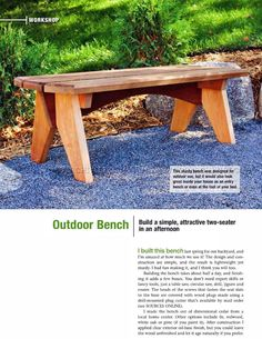 Outdoor Bench Plans - Outdoor Furniture Plans