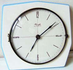 Kienzle 1950s ceramic blue clock