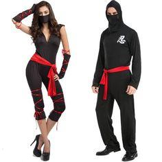 Couple Shirt Ninja Costume Masquerade Party Halloween Samura Assassins