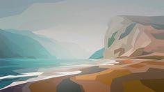 Cliffs - misty byy Liam Brazier