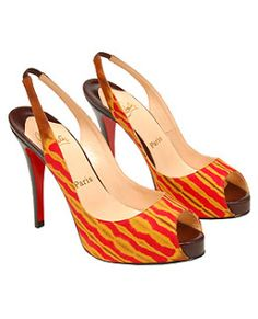 Orange african print shoes - Google Search