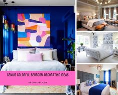 Colorful bedroom may be avoided by some people because they worry about clutter. Nowadays, you can create a genius bedroom decoration by using some colors. It will look cheerful and fresh. Bedroom Colors, One Bedroom, Bedroom Decor, People Sleeping, Clutter, Colorful, Fresh, Decoration, Create