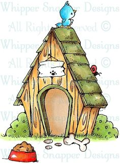 In the Doghouse - Dogs - Animals - Rubber Stamps - Shop