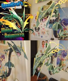 Paperized: Pokemon : Mega Rayquaza Papercraft