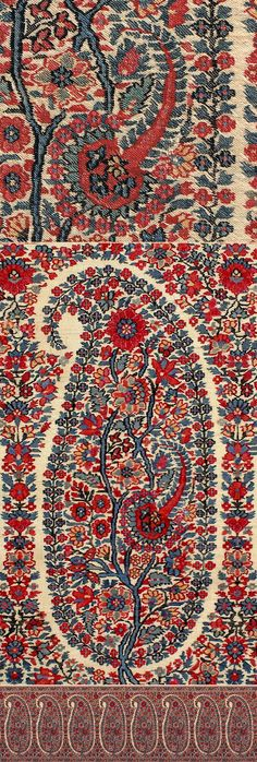 Antique Shawl from Kashmir, Jammu and Kashmir, India Motif Indien, Motif  Cachemire, 1727a990e9e