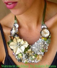 Statement Necklace by beading artist Doloris Petunia