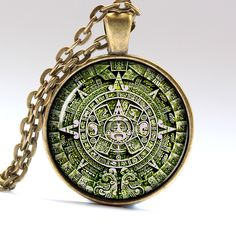 Sterling silver jewelry sterling silver aztec calendar pendant green aztec jewelry aztec calendar mexican necklace aztec necklace aztec pendant mexican pendant mexican jewelry lg317 aloadofball Images