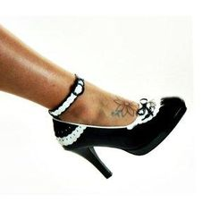 I found 'Wide Width Black & White French Maid Ankle Strap Rockabilly Heels Plus Size 9' on Wish, check it out!