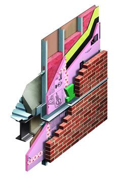 Furred construction is a common method for insulating the interior side of masonry walls, especially single wythe walls, or walls that have an uninsulated cavity.