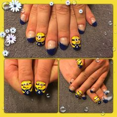 #minions#nailart#funny#nails