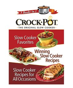 Look what I found on #zulily! Crock-Pot® Slow Cooker 3-in-1 Cookbook by Publications International #zulilyfinds